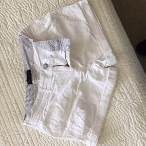 Midi twill shorts with cuff